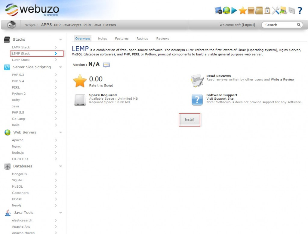 webuzo_wp_nginx_install