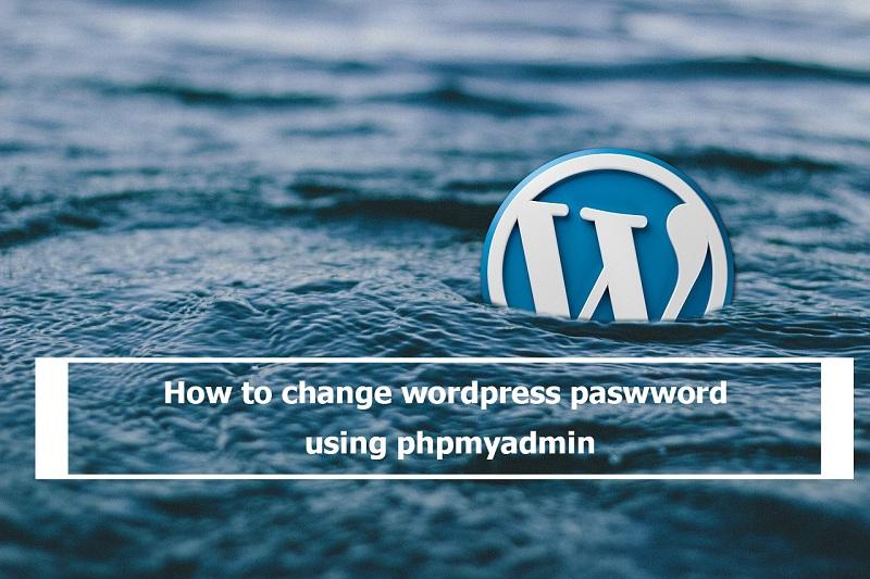 reset wordpress password using phpmyadmin