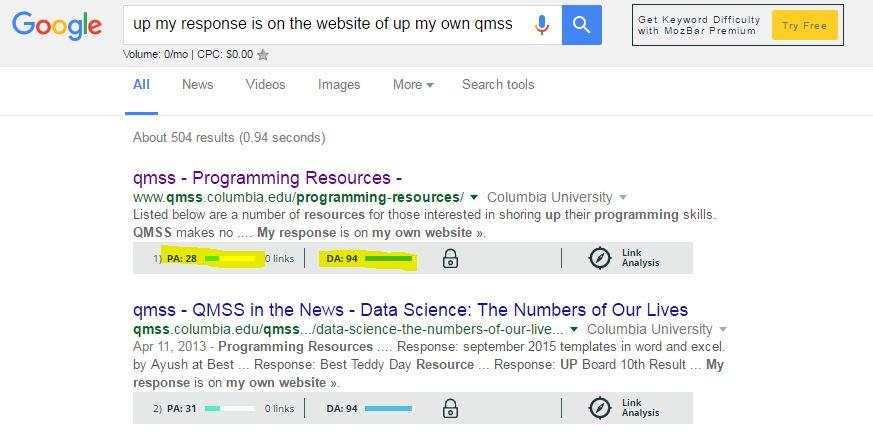 Response website method input links