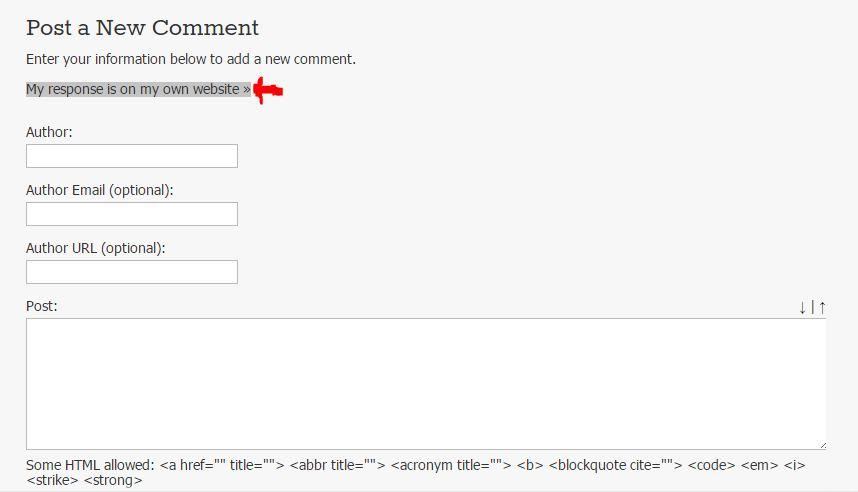 Response website method backlink